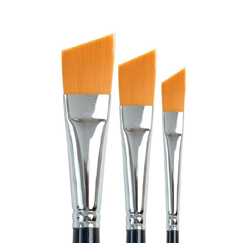 758 Golden Taklon Angular Brush