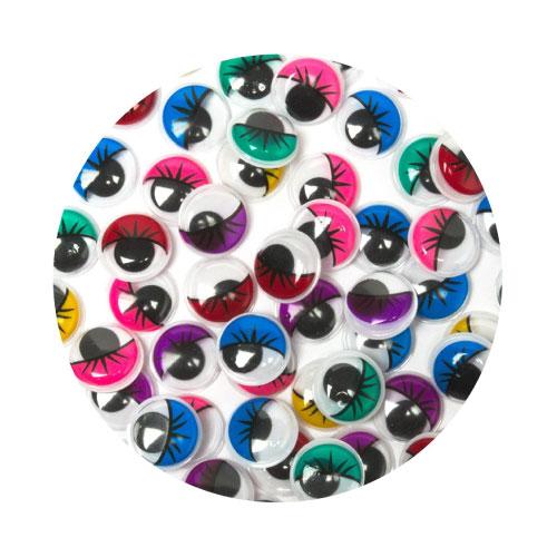 Assorted Half Colour Googley Eyes