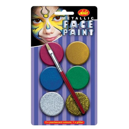 Metallic Face Paint Kit
