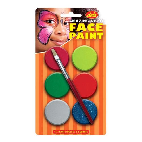 Neon Face Paint Kit